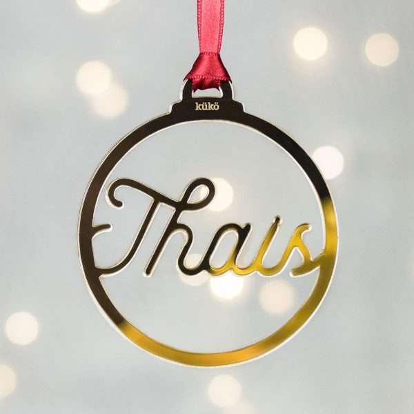 Bola de Navidad personalizada con nombre (redonda)